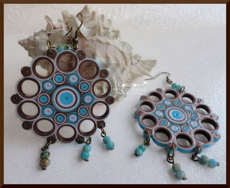 Paper Craft Paper Quilling Handmade Jewelry Earrings - paper quilled earrings search quilling jewelry
