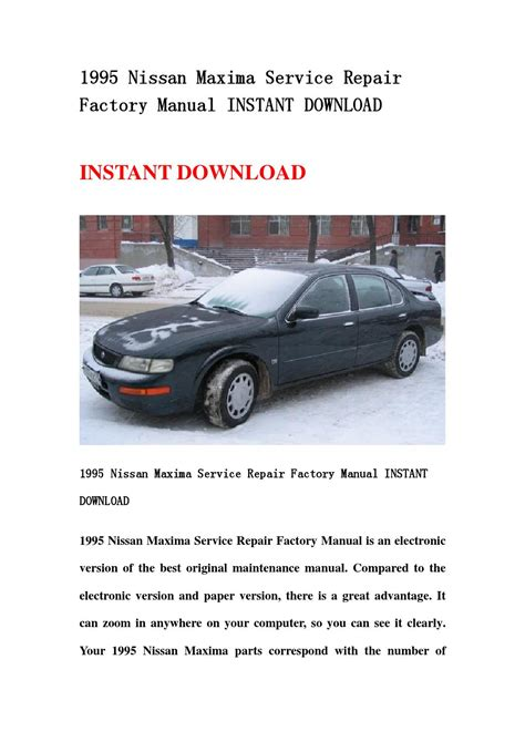how to download repair manuals 1995 nissan maxima free book repair manuals 1995 nissan maxima service repair factory manual instant download by hdgsnnnem issuu