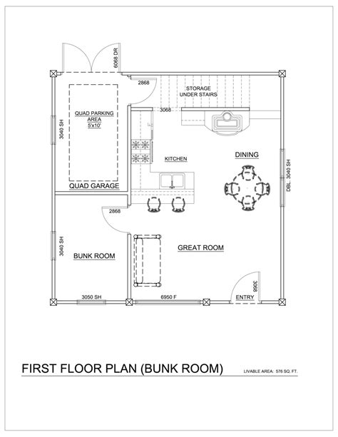 Basement In Law Suite Floor Plans the trapper quad model 2 24x24 simplebooklet com