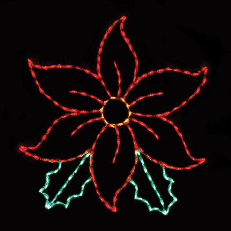 how to make a christmas yard poinsettia lighted 53 in outdoor led large poinsettia display 200 bulbs outdoor light displays at hayneedle