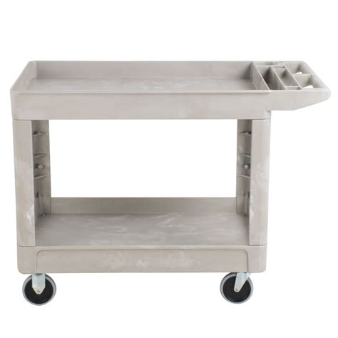 Two Shelf Cart by Rubbermaid Fg452089beig Beige 500 Lb Two Shelf Utility