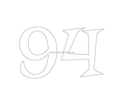 free printable vintage number stencils free retro 94 number stencil freenumberstencils com
