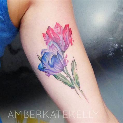 watercolor tulip tattoos 17 adorable floral tattoos you re going to be obsessed