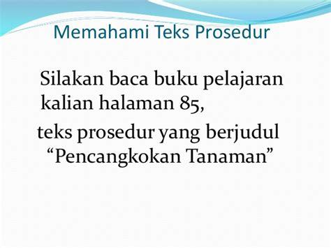langkah2 membuat teks prosedur teks prosedur