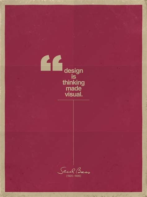 Design Is Thinking Made Visual Poster | typographic poster design by claes k 228 llarsson