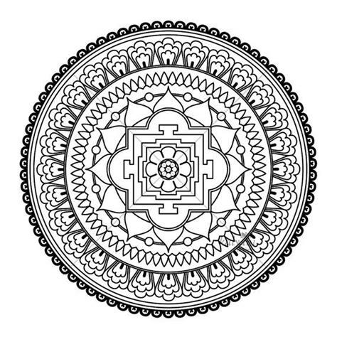 tibetan mandala designs intricate mandala coloring pages