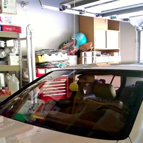 Garage Car Stop Indicator by 10 Uses For Tennis Balls That You Didn T Before