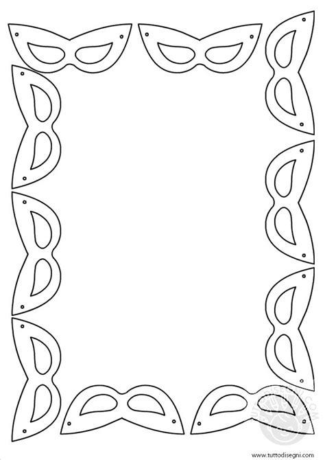 cornici carnevale cornicetta con maschere di carnevale tuttodisegni