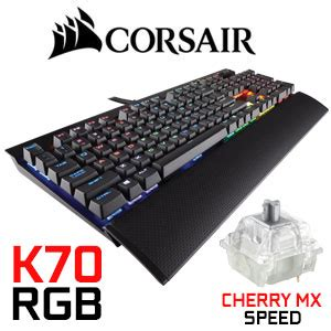 Keyboard Corsair K70 Rapidfire Mechanical Cherry Mx Speed Backli corsair ch 9101014 k70 rgb rapidfire backlit cherry mx speed mechanical keyboard dealsdealsdeals