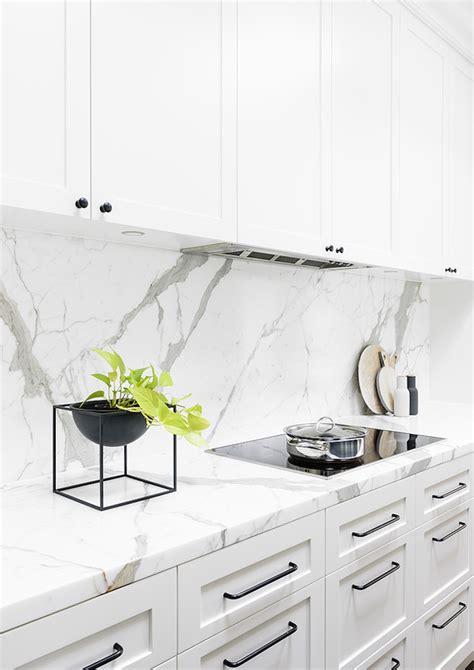 kitchen marble backsplash 14 white marble kitchen backsplash ideas you ll