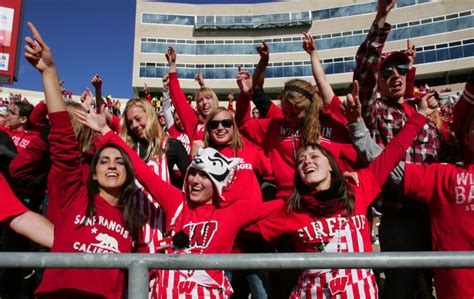 c randall student section new to the c a guide to badgers gameday for first