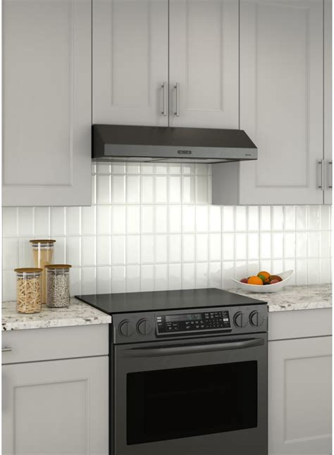 black stainless under cabinet range hood broan bcdf136bls 36 inch under cabinet range hood with