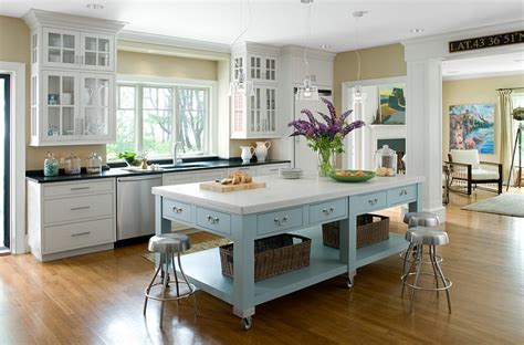 mobile kitchen island plans exquisite kitchen island on casters in beautiful blue and