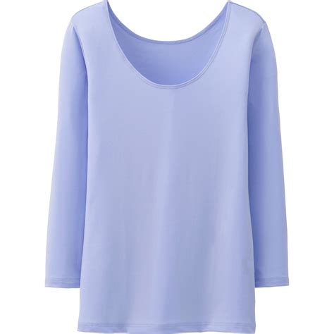 Scoop Neck Sleeve T Shirt uniqlo airism scoop neck 3 4 sleeve t shirt in blue