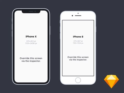 sketchbook x iphone flat iphone x and iphone 8 mockups for sketch by hu