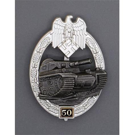 ww2 era german panzer assault uniform badge 25 engagements high quality panzer assault badge 50 engagements for sale