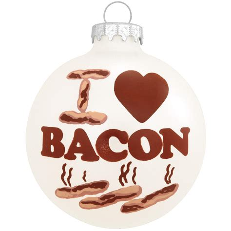 i love bacon christmas tree ornament