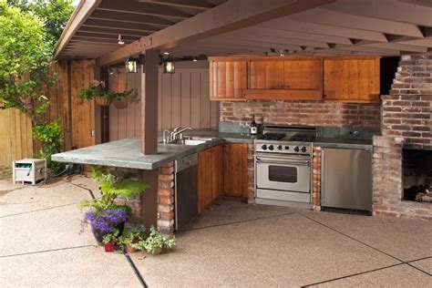 outdoor kitchen backsplash ideas cool outdoor kitchen design in terrace as well