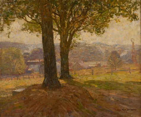 Charming Fine Art Canvas #6: Wyeth-N.C.-Hazy-Afternoon-oil-on-canvas.jpg