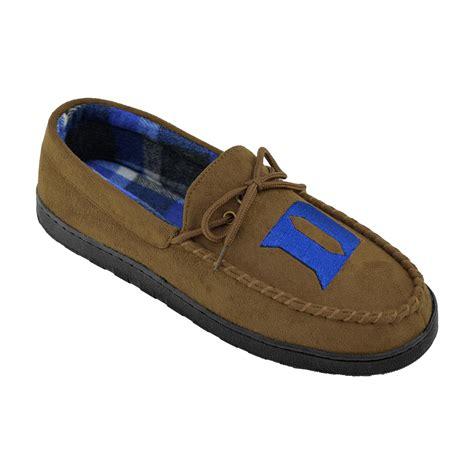 college slippers ncaa s duke blue devils brown moccasin slipper