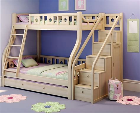 China Kids Wooden Bunk Bed With Pull Out Bed 07019 Pull Out Bunk Bed
