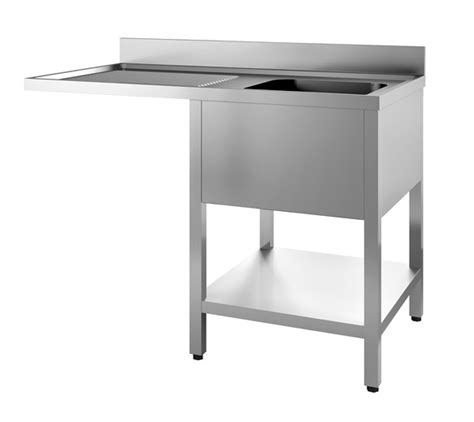 Single Sink Table Grease Trap Stainless Steel premium cs 1200mm single bowl dishwasher sink left drainer