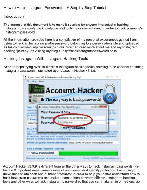 tutorial id instagram ppt how to hack instagram passwords a step by step
