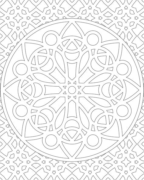 geometric coloring pages advanced geometric pages advanced level coloring pages