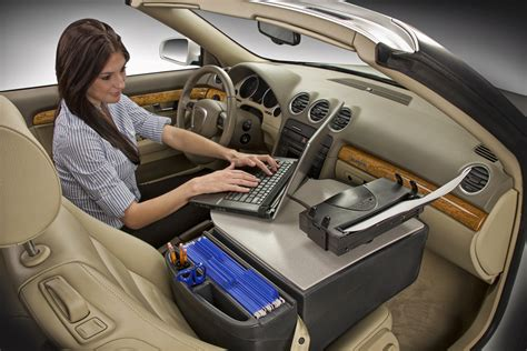 mobile laptop desk for car automotive desks by auto execs