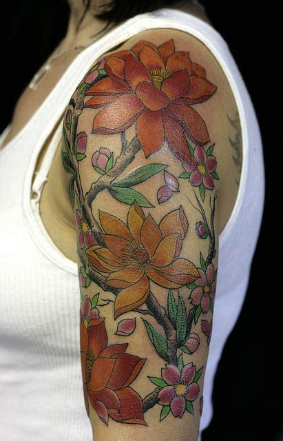 flower vine tattoo sleeve tattoos sleeves for girls 30 awesome tattoo designs