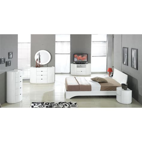 High Gloss Bedroom Furniture White Bedroom Furniture Sets In High Gloss White 17676