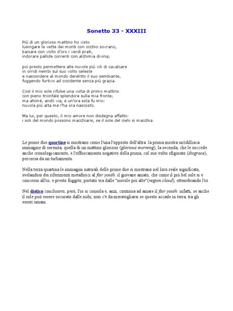 Sonetto 33 Shakespeare traduzione italiano