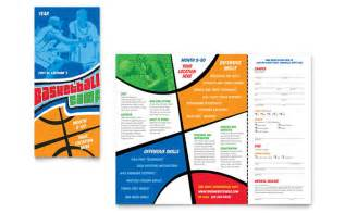 basketball sports camp brochure template design