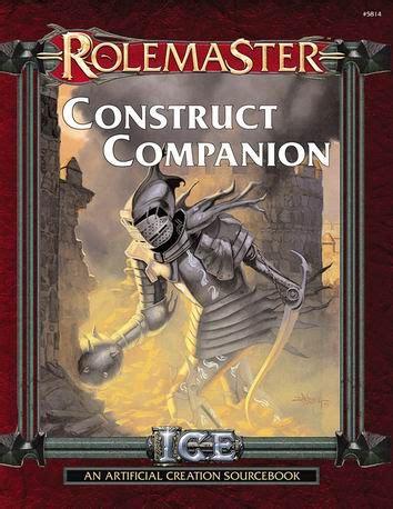 Rolemaster Companion 3 rmfrp construct companion 171 icewebring