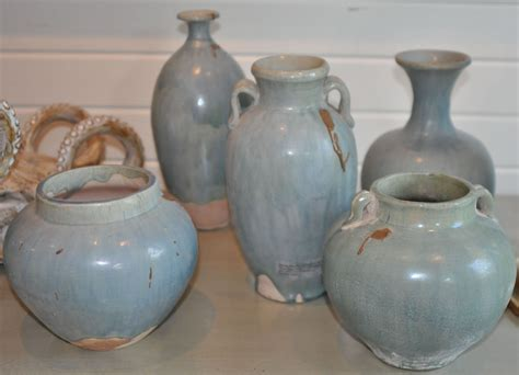 Rustic Vases Pottery by Blue Rustic Pottery Vases Mecox Gardens