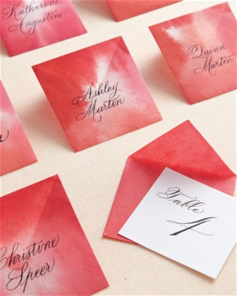 Origami Name Card - diy cards for wedding and reception
