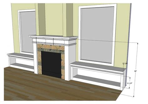Mantel with space for t.v., hearth skirt, side window
