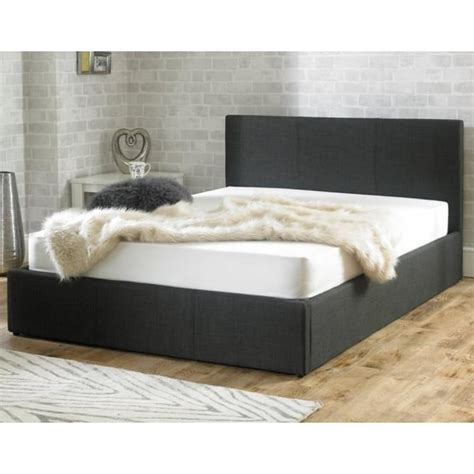 ottoman beds uk double stirling ottoman 4ft6 double charcoal fabric bed