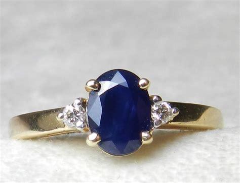 Blue Sapphire 12 3 Ct sapphire ring 1 5 ct blue sapphire engagement ring 14k