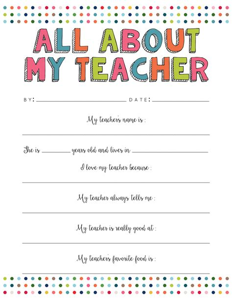 free printable worksheets for kindergarten teachers all about my teacher free printable yellow bliss road