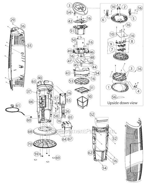 oreck airtb parts list and diagram ereplacementparts