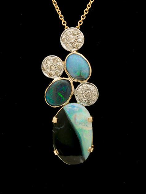Black Opal 3 3ct black solid opal pendant 1 3ct lp123