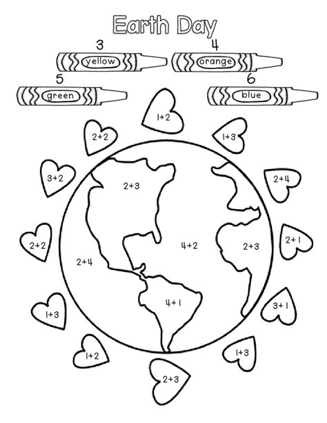 earth day coloring math pages earth day activity sheets az coloring pages