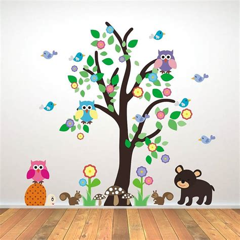 kids decals for bedroom walls kids bedroom woodland tree wall sticker wall sticker