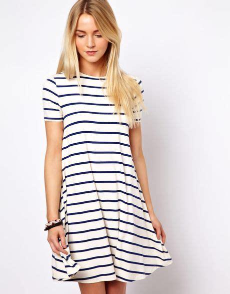 Dress Striped asos collection asos swing dress in stripe print in white
