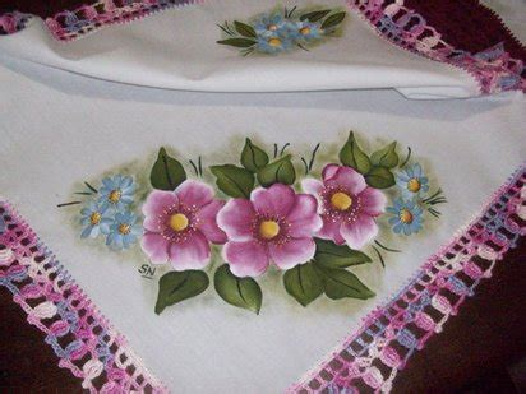 imagenes flores pintadas fotos de flores pintadas en tela imagui