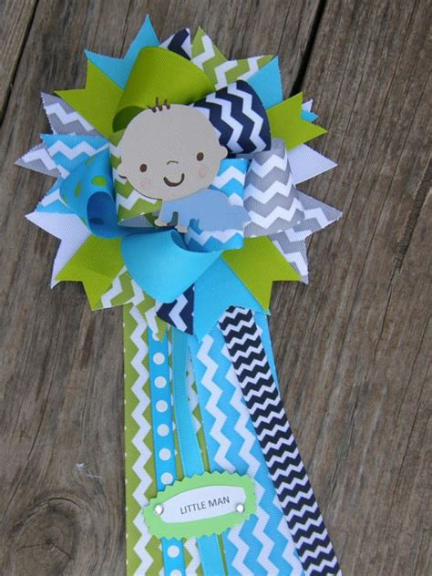 Mustache Baby Shower Corsage by Baby Shower Corsage Chevron By Bonbow 18 99