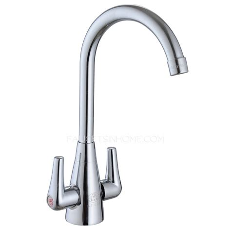 inexpensive kitchen faucets inexpensive brass two handle vessle mount kitchen faucets