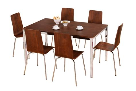 home dining sets table and 6 chairs walnut
