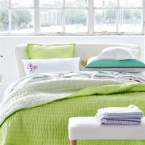 designers guild bedding designers guild chenevard wild lime and pale mint quilts
